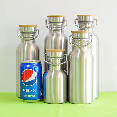 Cup Mug Stainless Steel Water Bottle Travel Thermos Insulated Coffee Vacuum Car