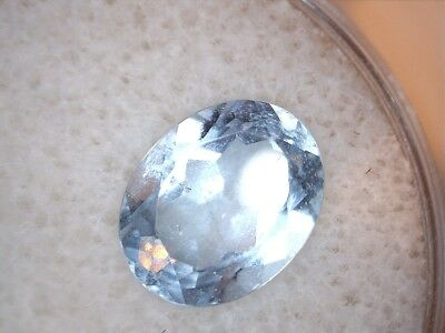 3.34 Ct Oval Shaped Light Blue Topaz Gemstone
