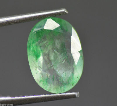 2.35 Ct Natural Green Emerald Loose Gemstone Zambian EGL Certified UNTREATED