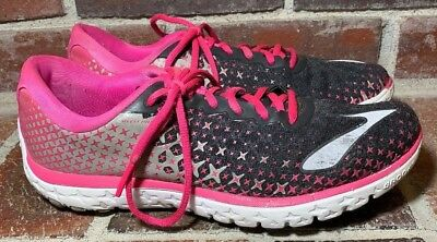 5fc30936282ad Brooks PureFlow 5 Anthracite PinkGlow Alloy Road Running Shoes - Women s  Size 10