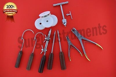Wire Passer , Wire Tightener Forceps Basic Orthopaedic Instruments Set of 12 PCS