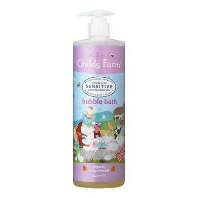 4x Childs Farm Bubble Bath Organic Tangerine 500ml