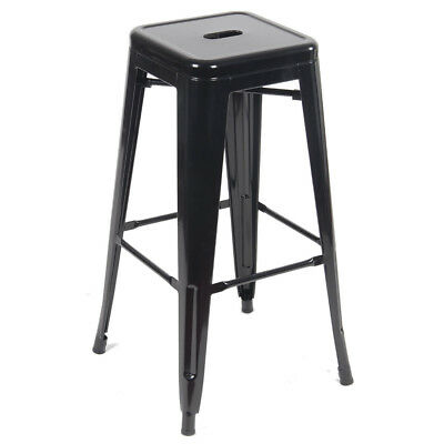 Metal Vintage Stool Industrial Kitchen Breakfast Bar Stools Sgabello Black