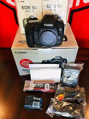 Canon EOS 5D Mark III 22.3MP Digital SLR Camera - Black (Body Only) S Count 888