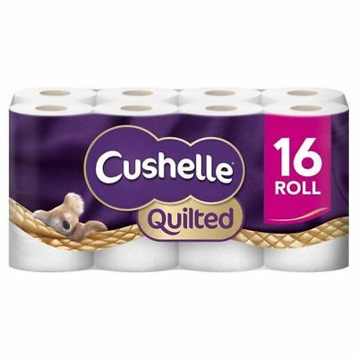 4x Cushelle Quilted Toilet Roll White 16 per pack