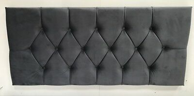 Luxury Plush Velvet Bed Headboard Choose Your Size +Colour + Quality Hand Made