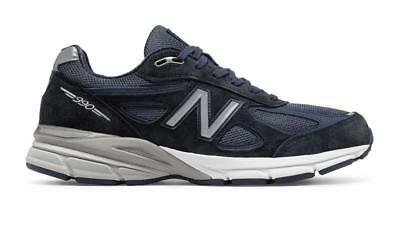 newest e2cce abdb8 NEW BALANCE MEN'S Running Sneakers 990V4 Navy Silver M990NV4 ...