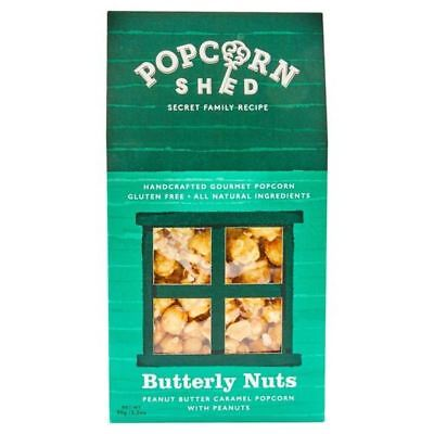 4x Popcorn Shed Butterly Nuts Gourmet Popcorn 90g