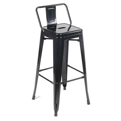 Metal Vintage Stool Kitchen Breakfast Bar Stools Sgabello Due Black