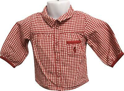 PRE-OWNED Girls H&M Red Popper Shirt Size US 4-6 Months