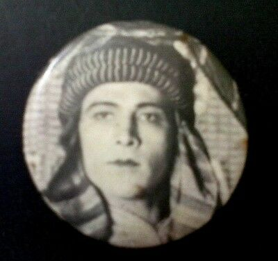 Large Antique Celluloid Pinback button ~ Rudolph Valentino