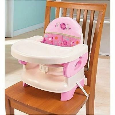 High Chair For Toddlers Infant Portable Space Saver Baby First Booster Pink