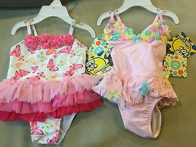 NWT Little Me Sz 12 Girl Two Styles for one price 1pc Swim