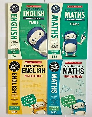 Scholastic English, Maths & Revision Guides (set of 4 books) Ages 10-11 (Year 6)