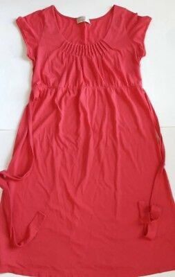Old Navy Maternity Dress Cotton Short Sleeve Sz S small pink