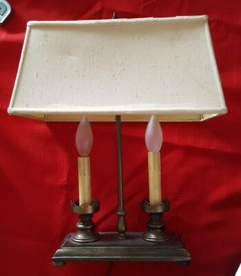 Brass Candle Stick Style Desk Lamp