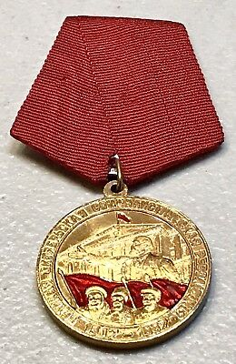 Vintage 80 Years Russian October revolution USSR Military Communist Medal Pin
