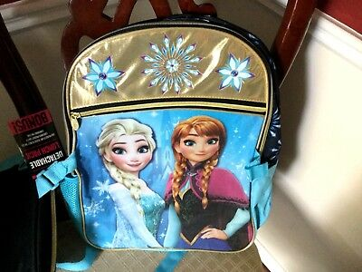 """Disney Frozen 16"""" Backpack with Insulated Lunchbox Featuring Anna & Elsa NWT"""