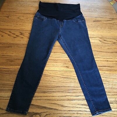 Liz Lange Maternity Jeggings Skinny Jeans - Full Panel Dark Wash - Size XL