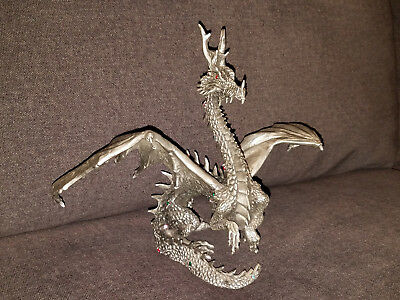 VINTAGE HUDSON PEWTER DRAGON STATUE FIGURE #5058 USA LIMITED EDITION 8 x 10 inch