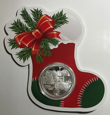TRACTOR & CHRISTMAS STOCKING - 2018 CHRISTMAS 1 oz. - .999 FINE SILVER ROUND