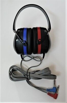 Audiocups / Headphones  For Audiometer With Tdh   And Cables