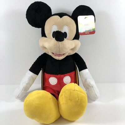 """New Disney Deluxe Mickey Mouse BIG Large Plush 18"""" Gift Toy"""