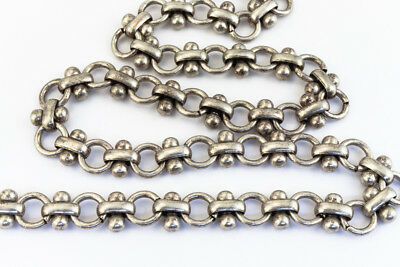 Antique Silver 6.5mm Steampunk Cable Chain #CC175