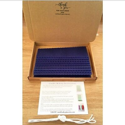 BEESWAX SHEETS ROLLED Candle Making Kit 10 sheets Instruction, Wick  Coloured Wax