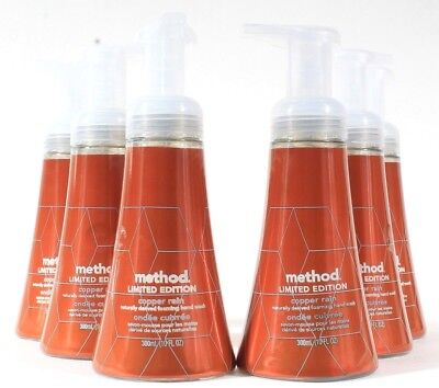 6 Method Limited Edition Copper Rain Naturally Derived Foaming Hand Wash 10 oz