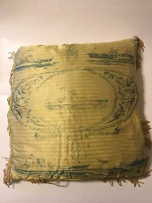 Antique US Navy Decorative Pillow