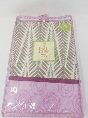 Lolli  Living  Bed Skirt Pink And Brown  100%Cotton