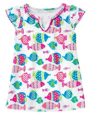 NWT Gymboree Toddler Girls swim cover up Fish  12 18 24 M