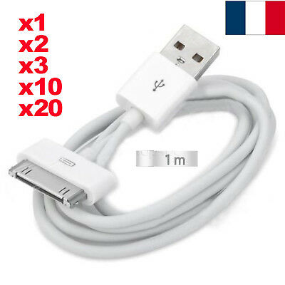 FR POSTE CABLE Usb Chargeur Pour Iphone 4 4S 3 3Gs Ipad Ipod