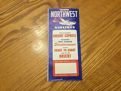 1953 Northwest Airlines Schedule