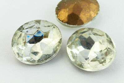 10mm x 12mm Crystal Faceted Oval Point Back Cabochon (2 Pcs) #XGP008.5-H