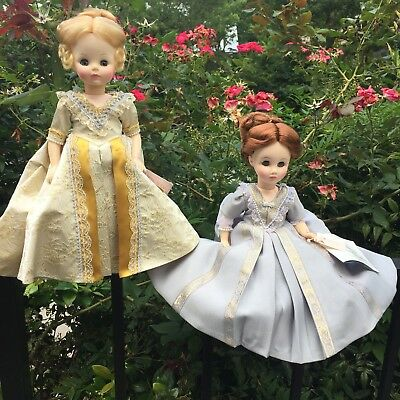 """Lot of 2 Vintage MADAME ALEXANDER First Lady Collection Dolls 12"""" Size Series 4"""