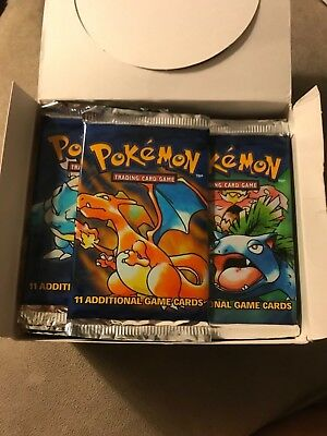 Pokemon Base Set Booster Packs From Green Wing Box - Factory Sealed..one pack