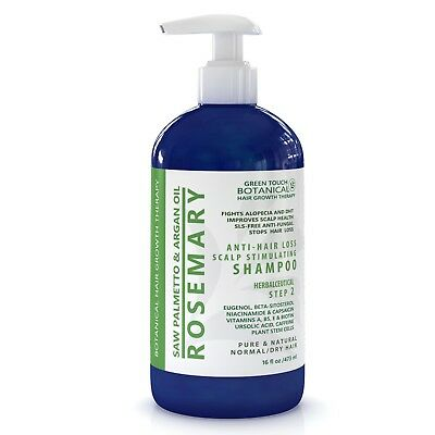 Anti Hair Loss Shampoo Rosemary, Saw Palmetto & Argan Oil 1% Ketoconazol / 16 Oz
