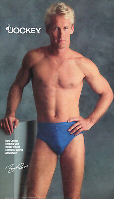 Bart Conner - Olympic Gymnast - Jockey Underwear Advertising Poster - 18x30 inch