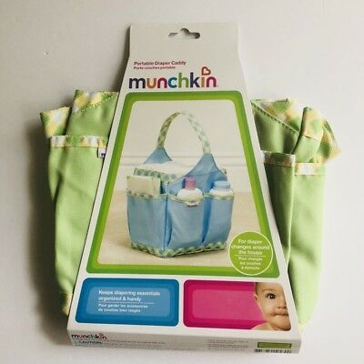 Munchkin Portable Diaper Caddy Organizer Green New Baby Shower Gift Infant Home