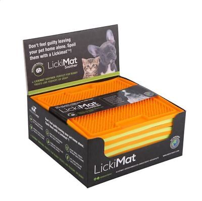 Lickimat Boredom Buster Treat Mat for Dogs or Cats Playdate Soother or Buddy