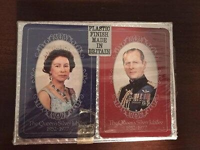 Waddingtons Fine Playing Cards Queen Elizabeth's Silver Jubilee 1977 Sealed VTG