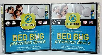 2 Bed Bug Prevention Device Bed Defense 2 Devices + 1 Repellent Mist Brand New
