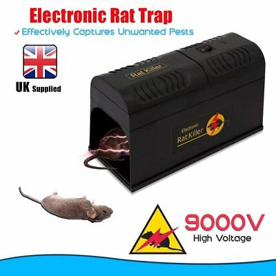 1-10 X High Voltage Electronic Rat & Rodent Trap - Electric Mouse Rodent UK Plug