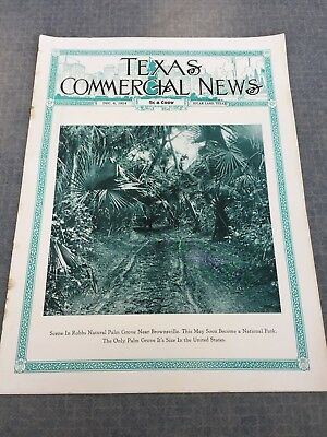 1924 Sugarland TEXAS COMMERCIAL NEWS Magazine BROWNSVILLE! Cato Sells! FREEPORT!