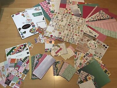 PAGE EVANS Oh My Heart Collection (Papiere, Sticker, Die Cuts,...) Scrapbook KIT