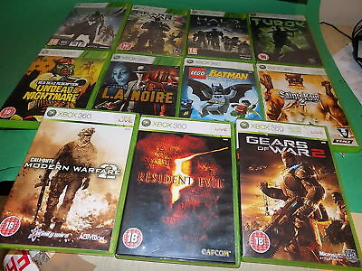 XBOX 360 JOB LOT of 11 Games BUNDLE Call of Duty Lego Batman