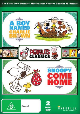 Boy Named Charlie Brown / Snoopy, Come Home (DVD, 2018) (Region 4) New  Release