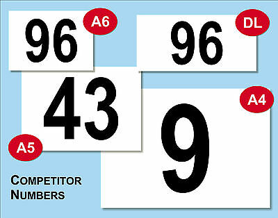 Competitor Numbers